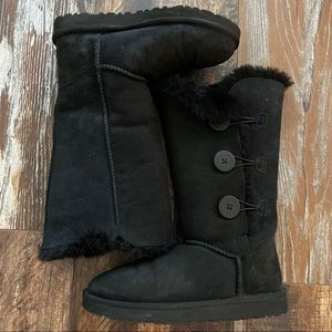 Black button UGG boots